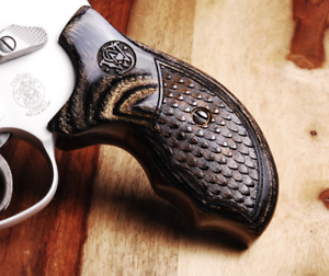 Details about Altamont S&W J Frame Round Combat Grips Silverblack Dragon  with Laser Logo