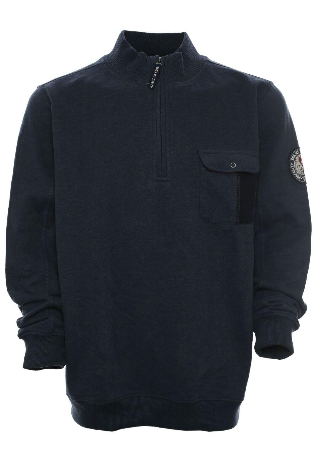 Kitaro Sweatshirt Sweat Troyer Herren Langarm Baumwolle Maritime Classics