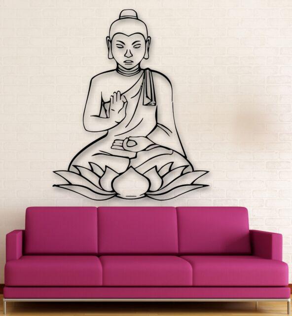 Wall Stickers Vinyl Decal Buddha Lotus Buddhism Religion Meditation (ig347)