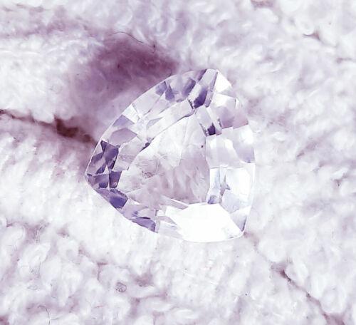 Naturel Saphir Blanc Certifié Desseré Pierre Précieuse Entre 6 Pour 8 CT