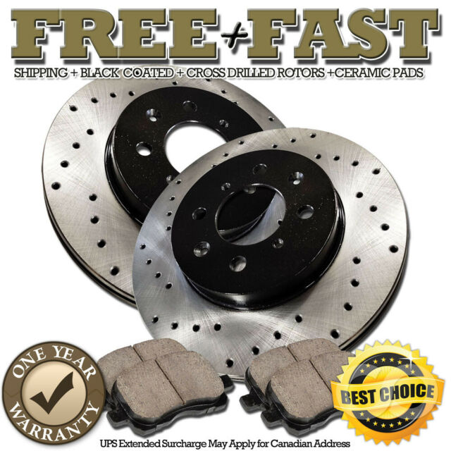 Front+Rear Rotors Ceramic Pads For 1993 1994 1995 1996 1997 ACCORD