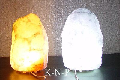 Intellective Lampada Di Sale Dell'himalaya Luce Naturale 1x Bianco 1x Rosa 1-2kg Luce Led Cavo Usb-
