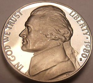 United States Proof 1980-S Jefferson Nickel~Proofs R Best Coins