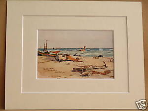 Analytical Hastings Shore Sussex Vintage Mounted Print C1910 10x8 A Great Variety Of Goods Art