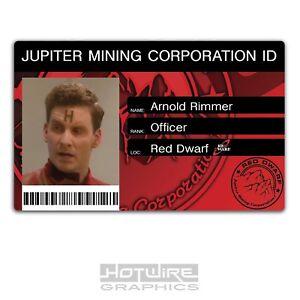 Rimmer Red Dwarf Novelty Plastic Credit Card