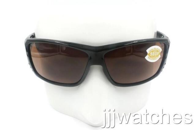 ff32c168a35 New Costa Del Mar Cat Cay Shiny Black Copper Polarized Sunglasses AT 11 OCP   149