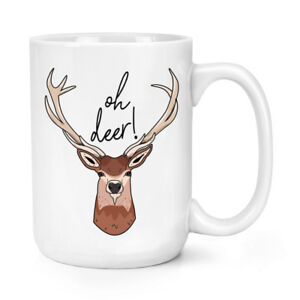 Oh-Deer-15oz-Large-Mug-Cup-Funny-Stag-Joke-Animal-Big