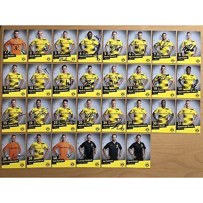 30 AK Borussia Dortmund II U23 Autogrammkarten 2017-18 original signiert