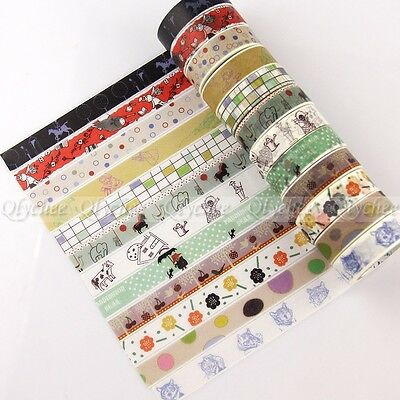 New Design Decorative Paper Craft Washi Tape Adhesive DIY Mask Scrapbooking 1pc