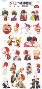 Details About My Hero Academia Anime Stickers Cute Japanese Manga Kawaii Chibi Shoto Izuku