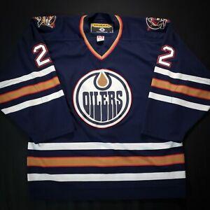 Anson Carter Edmonton Oilers KOHO Authentic NHL Hockey Jersey - Size 52