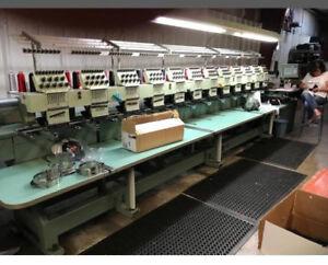 Details about TAJIMA 12 Head Automatic Embroidery Machine TME-DC912
