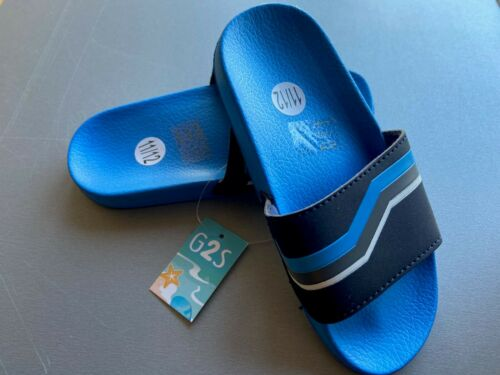 BOYS BLUE EVA  SLIP ON SLIDER MULE SANDAL MADE BY GOODY 2 SHOES FREE P/&P