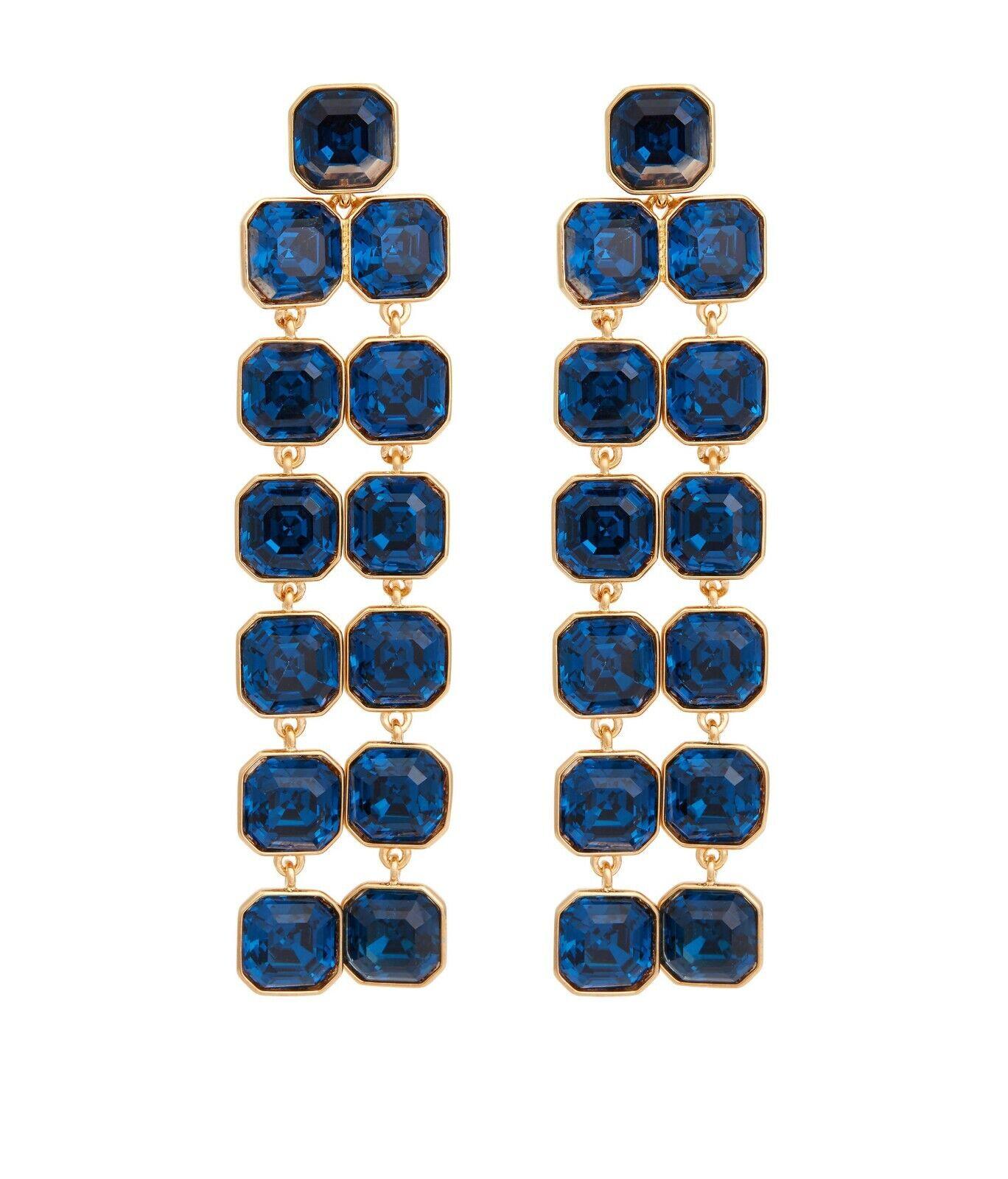 Henri Bendel Windsor Geo Chandelier Montana Earrings New NWT