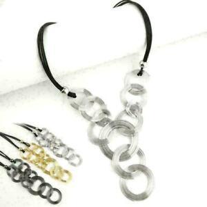 Geometrisches-Muster-Halskette-Frauen-Dame-Multi-Kreis-Mode-H-S7F4-E9W5-Anh-U4S8
