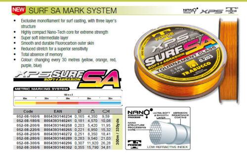 Trabucco XPS Surf SA  Fluoro Power Surf Casting Fishing Line 300 mt  HI ABRASION