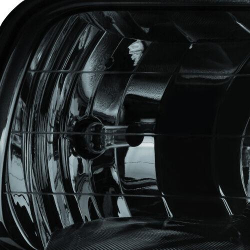 for 2009-2012 Dodge RAM 1500 Smoke Bumper Fog Lights Lamps w//Bulbs+Switch+Wiring