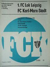 Programm 1986/87 FC Karl Marx Stadt - Lok Leipzig