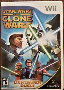 Star Wars the Clone Wars Lightsaber Duels Nintendo Wii Video Game Lucas Arts