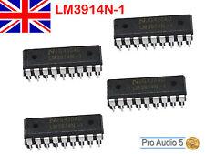 4x LM3914 Dot/Bar LED Display Driver LM3914N-1 LM3914N 18 pin DIP Package 4pcs