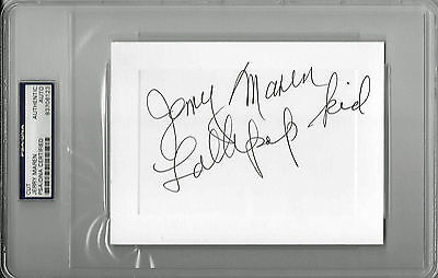 "Entertainment Memorabilia Provided Jerry Maren Signed 4""x6"" Card Wizard Of Oz Munchkin Psa/dna Encap 83706123"