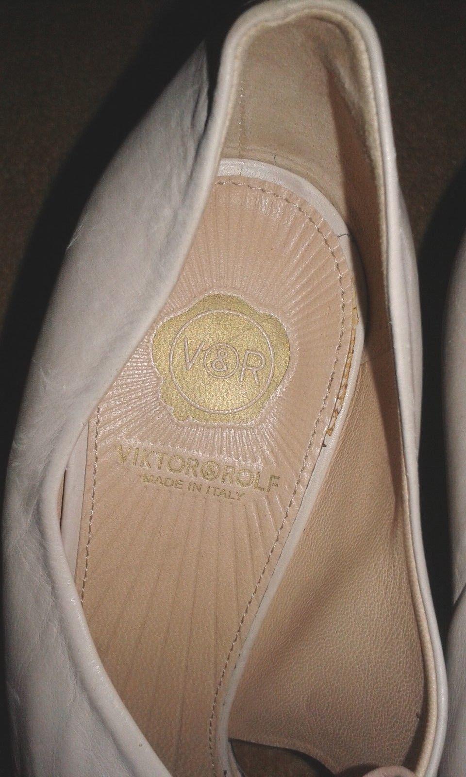 Viktor & Rolf Snakeskin/Nappa Laced Leder Contrast Pointed Toe Laced Snakeskin/Nappa Heels - UK 4 03bf67