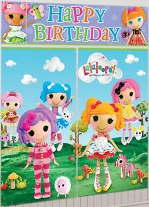 Details About Lalaloopsy Scene Setters Birthday Party Wall Decoration Kit Banner Discontinued
