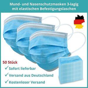 Schutz Maske Einweg 3-lagig Gesichtsmaske Atem Mund Nase Schutzmaske Mundschutz