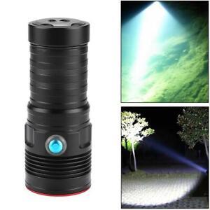 Tauchfähig Tauchen Licht Unterwasser Taschenlampe Camping Lampe 4000LM 100m ✪