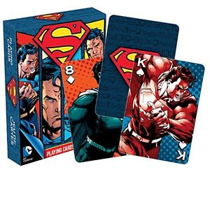 Superman-set-of-52-playing-cards-nm-dark-box-version