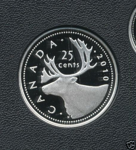 2010 Proof Quarter Ultra Heavy Cameo 25 Cent Coin