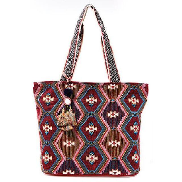 Steven By Steve Madden Wine Multi Color Essie Tote Handbag Nwt