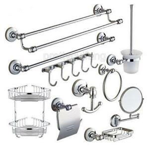 Image Is Loading Modern Chrome Wall Mounted Bathroom Hardware Bath Accessory