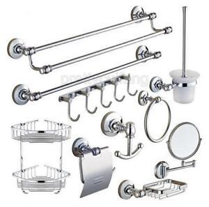 Image Is Loading Modern Chrome Wall Mounted Bathroom Hardware Bath Accessory