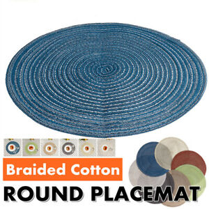 14In-Round-Woven-Placemat-Kitchen-Dinner-Table-Place-Mat-Heat-Insulation-Pad-US