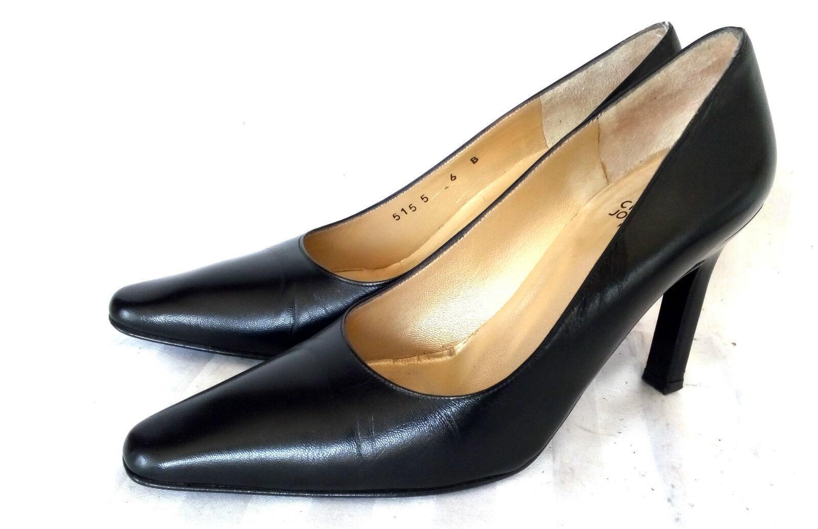 Charles Jourdan tacón alto zapatos cuero de salón hackenzapatos zapatos señora zapatos cuero zapatos negro 6 39 Top f71e6e