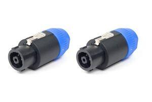 2 pack) Original Neutrik NL8FC SpeakON 8 Pole Speaker Cable ... on