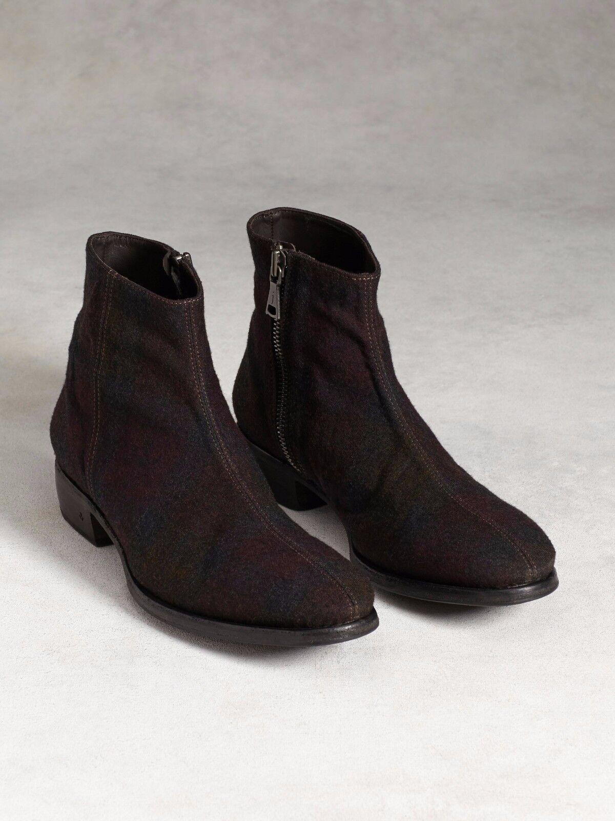 John Varvatos Men's Stitched Wool Ankle Boots, US 12