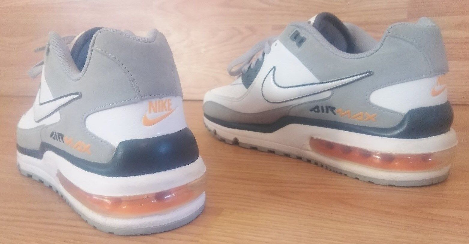 low priced 66d1d 0fba1 ... Nike Nike Nike Air Max Shoes, Gray White, Orange Trim - 2011, ...