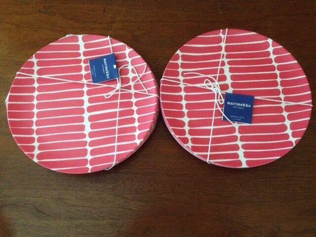 Neuf avec étiquettes Marimekko pour Target Set de 8 okariino assiettes