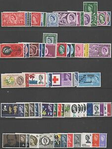 GB-QE2-1953-1970-complete-set-commemoratives-197-unmounted-mint-stamps