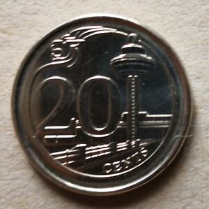 Singapore 2015 3rd Series 20 cents coin
