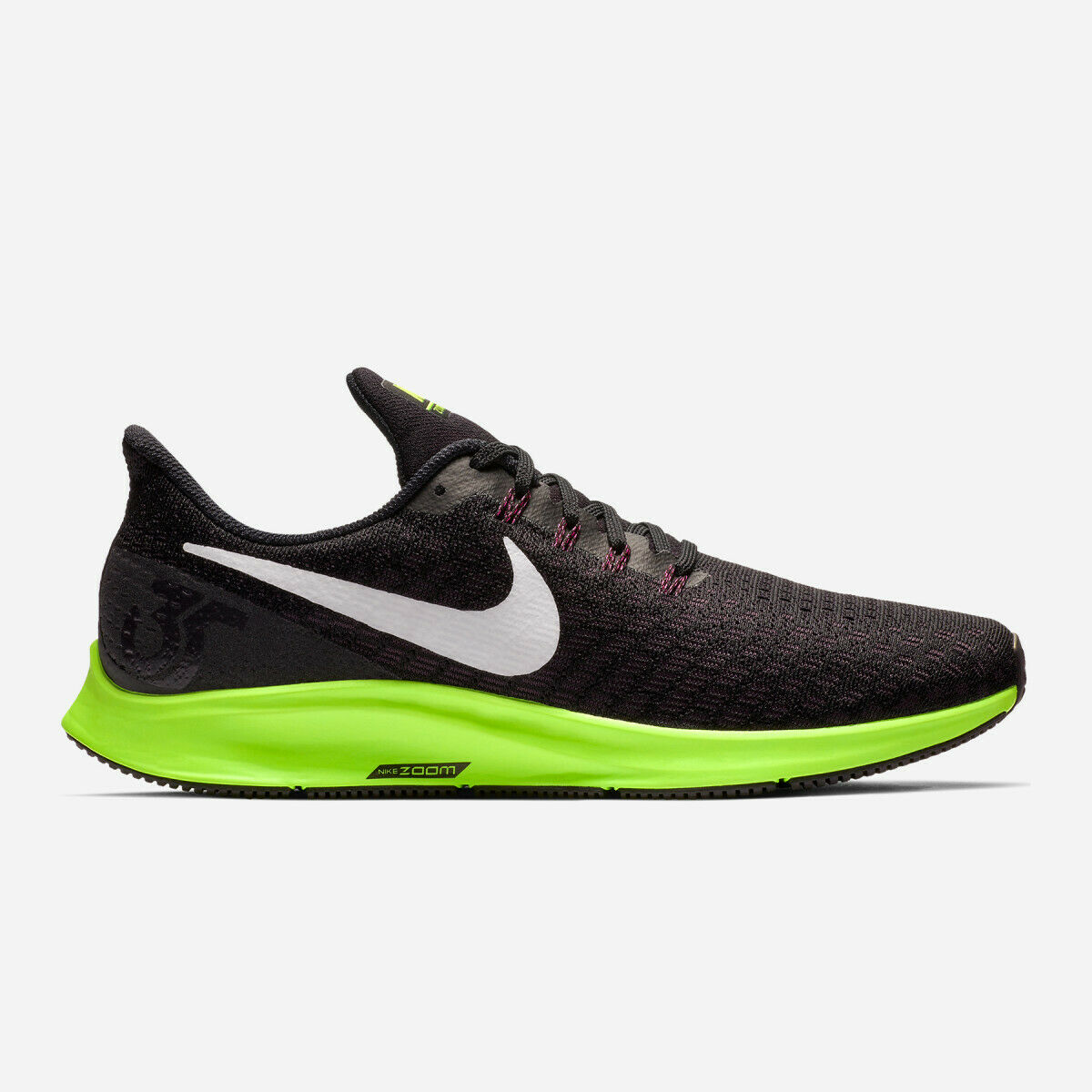 New Nike Men's Air Zoom Pegasus 35 shoes (942851-016)  Black White-Burgundy-Lime