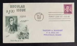 US-Scott-1052-Liberty-Series-Patrick-Henry-1-FDC-First-Day-of-Issue-Fleetwood