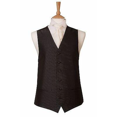 Mens New Galaxy Black and White Wedding Tuxedo Dress Prom Ball Cruise Waistcoat