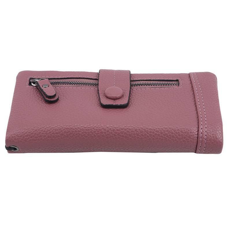 Luxury Women PU Leather Clutch Wallet Long Card Holder Purse Box Handbag Bags LA