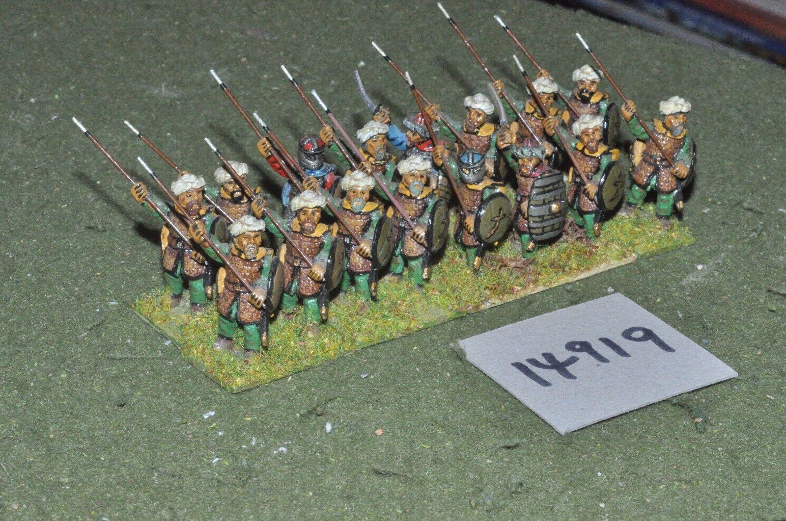 25mm medieval   turkish - seljuk infantry 16 figs - inf (14919)