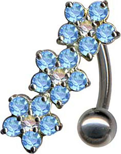 Kristalle EPOXY Bauchnabel Neu ECHT SILBER 925er Bauchnabelpiercing TITAN G23
