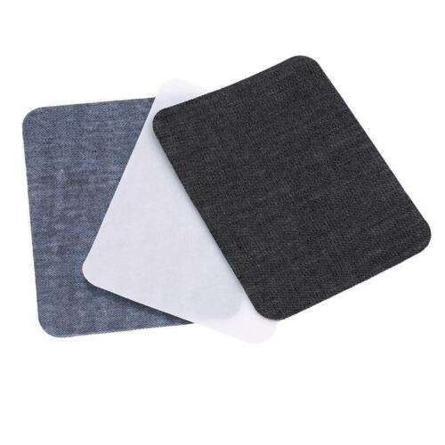 Iron-On Denim Patches Jeans Elbow Knee Repair Decorative Applique No Sew DIY LC