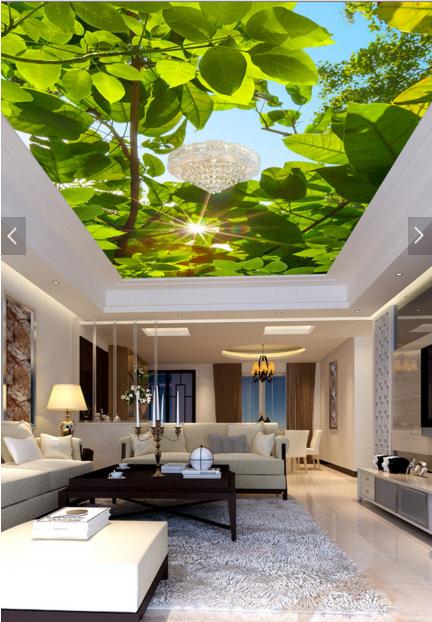3D Pretty Sun Tree 7 Ceiling WallPaper Murals Wall Print Decal Deco AJ WALLPAPER